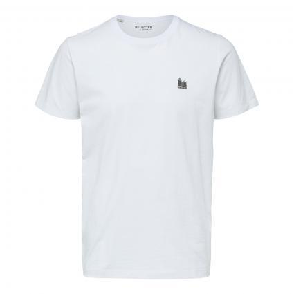 T-Shirt 'Jude' mit Bruststickerei weiss (179651 Bright White)   XL
