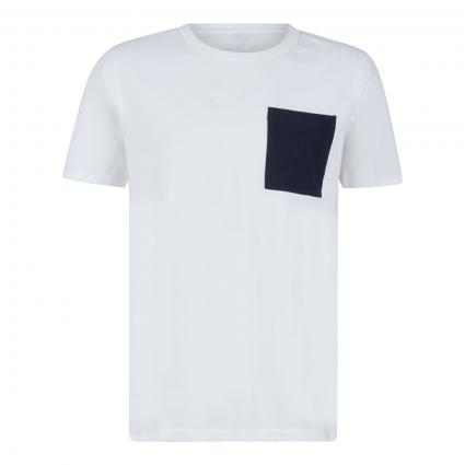 T-Shirt mit Brusttasche  weiss (179651 Bright White) | XL