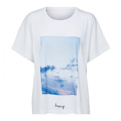 T-Shirt 'Mira' mit Print weiss (179651001 Bright Whi) | XS