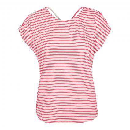 T-Shirt 'Alona' mit Streifenmuster pink (265316002 Honeysuckl) | L