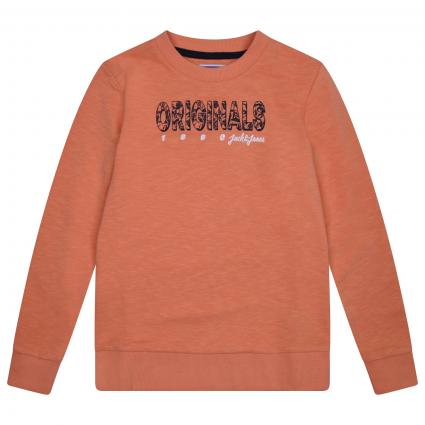 Sweatshirt mit frontalem Label-Print  orange (177271 Shell Coral) | 176