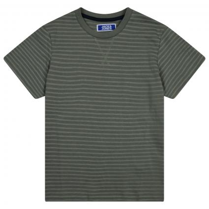 T-Shirt mit All-Over Streifenmuster  oliv (176673 Sea Spray) | 128