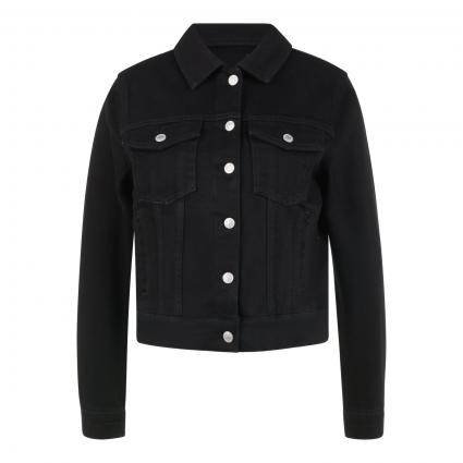 Jeansjacke aus Baumwolle  schwarz/blau-schwarz (181951 Black Denim) | 42