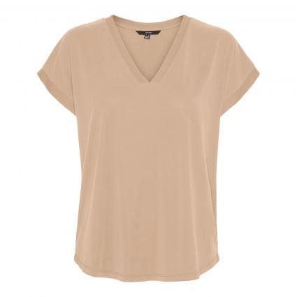 T-Shirt 'Filli' mit V-Neck camel (186119 Nomad)   S