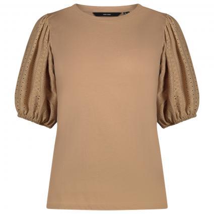 Shirt mit Ärmel in Spitzen Optik camel (186119 Nomad) | S