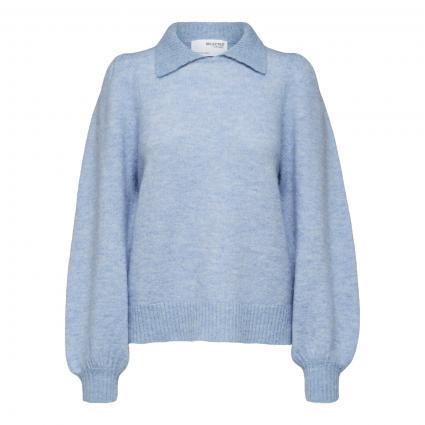 Pullover 'Louisa' mit Kragen blau (212870 Brunnera Blue)   L