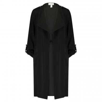 Offener Mantel mit Knopfriegel schwarz (11 SCHWARZ) | 36
