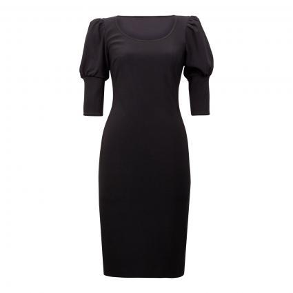 Kleid mit Puffärmel schwarz (11 SCHWARZ)   36