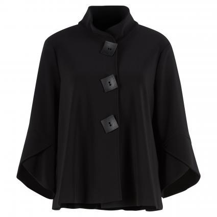 Jacke mit Schmuckknöpfen und Volantsärmel schwarz (11 SCHWARZ)   36