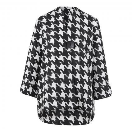 Jacke mit Hahnentritt-Muster schwarz (511 SCHWARZ/ELFENBEI) | 44
