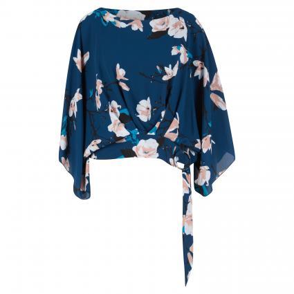 Fließende Bluse mit floraler Musterung türkis (3206 TUERKIS/MULTI) | 40
