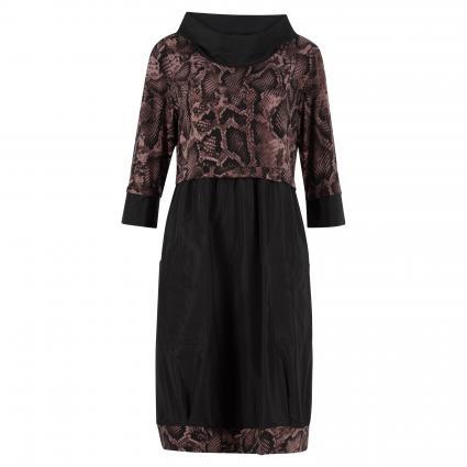 Kleid mit Reptilien-Muster schwarz (262 SCHWARZ/BRAUN) | 48