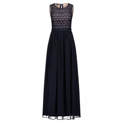 Kleid mit Musterung marine (MARINE) | 42