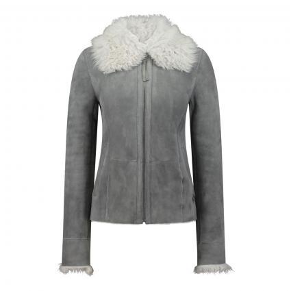 Jacke 'Margo' aus Leder  grau (ash) | L
