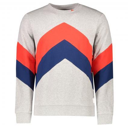 Sweatshirt in Colour-Blocking Optik grau (21silver) | M