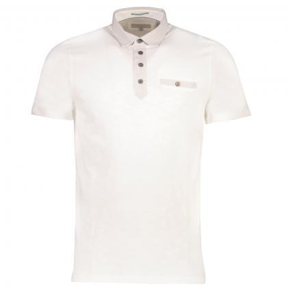 Slim-Fit Poloshirt 'Sahara' weiss (WHITE) | XXL