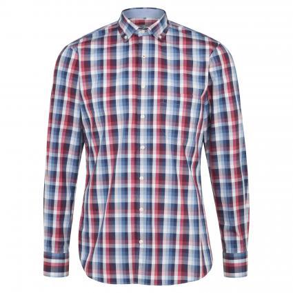 Hemd aus reiner Baumwolle rot (4627/35 Red Mel CHK) | XL