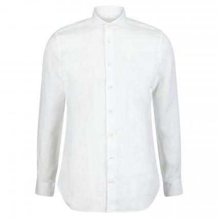 Slim-Fit Hemd aus Leinen weiss (white) | 40