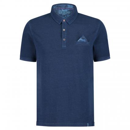 Poloshirt mit Einstecktuch marine (699 Sailor Blue) | S