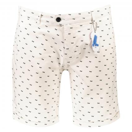 Shorts mit All-Over Musterung weiss (100 White) | 30