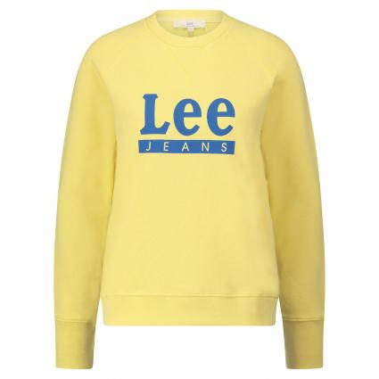 Sweatshirt mit Label-Print gelb (YELLOW SIGN) | XS