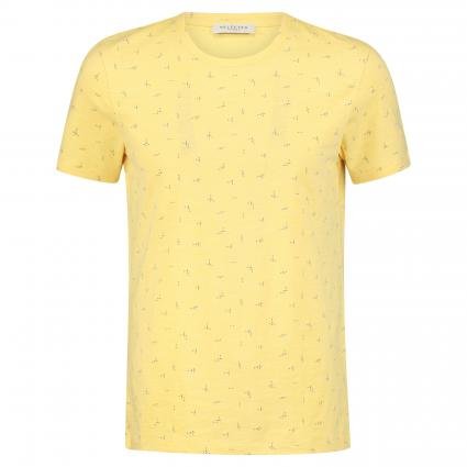 T-Shirt 'Oliver' mit All-Over Muster gelb (Dusky Citron) | XL