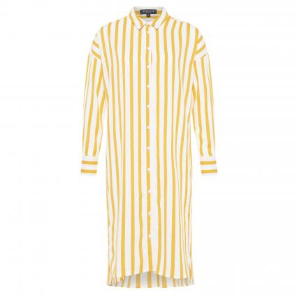 Hemdblusenkleid 'Dorit Tonia' in Streifen-Optik gelb (RADIANT YELLOW) | 40