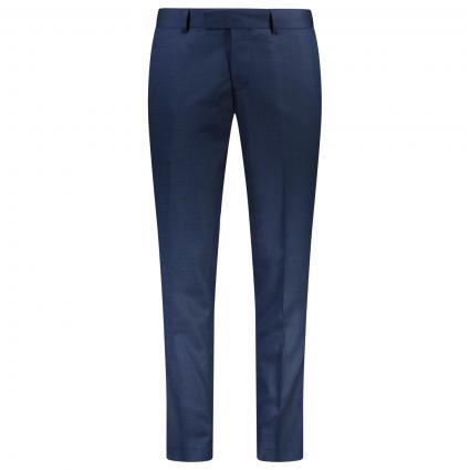 Pantalon slim'Gordon' avec motif texturé bleu (2AX) | 52