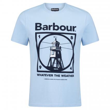 T-Shirt mit Leuchtturm blau (BL 63 ocean blue) | XXL