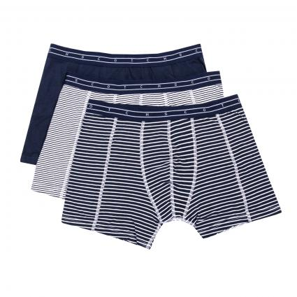 Boxershorts im 3er Pack grau (0603 Combo X stripe)   S