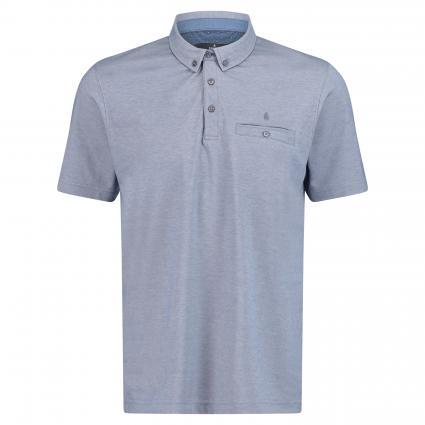 Poloshirt mit Brusttasche blau (073 Blue Mel) | L