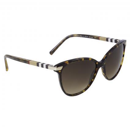Sonnenbrille mit gemustertem Bügel braun (300213 BROWN) | 0
