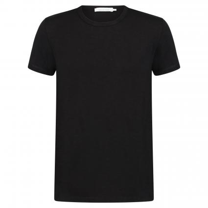 T-Shirt 'Lassen' in melierter Optik schwarz (black) | M