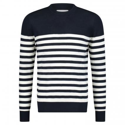 Pullover 'Flemming' mit Streifenmuster marine (níght sky stripe) | L