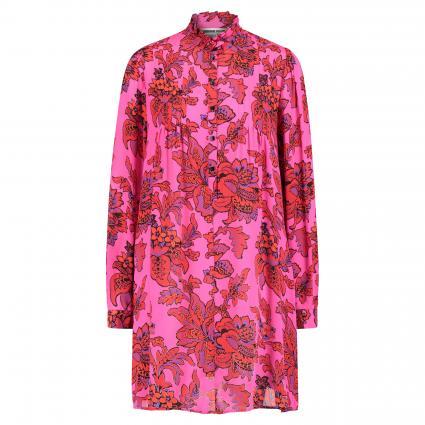 Seidenkleid mit floraler Musterung pink (5214 FUCSIA) | 34