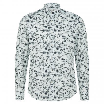 Slim-Fit Hemd mit floraler Musterung weiss (00 White) | 42