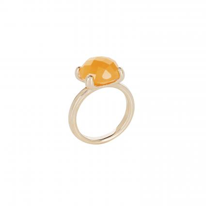 Ring 'Felicia' mit Edelstein orange (ROSE GOLD/ORANGE) | 0