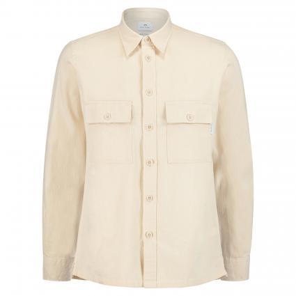 Regular-Fit Hemd mit Brusttaschen ecru (04 offwhite) | L