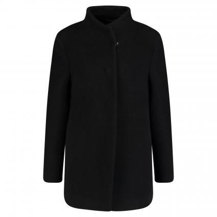 Jacke aus Schurwolle-Mix  schwarz (1 schwarz) | 46