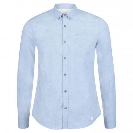 Regular-Fit Hemd 'Pique' blau (654 Blue)   L