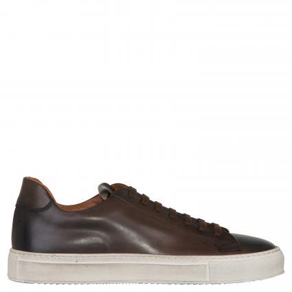 Sneaker aus Leder taupe (SM16) | 42