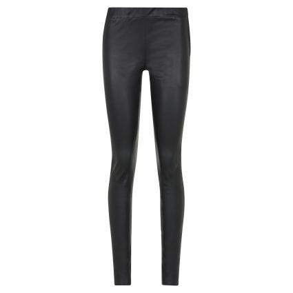 Schmale Lederhose mit Reißverschluss schwarz (1025 schwarz) | 40