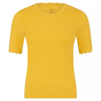 Kurzärmeliger Strickpullover gelb (431 gelb) | 42