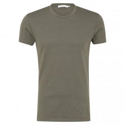 T-Shirt 'Kronos' mit feinem Streifenmuster oliv (quiet deep str) | M