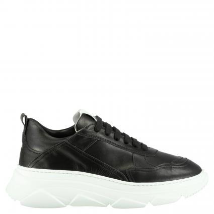 Sneaker aus Leder schwarz (VITELLO BLACK) | 38