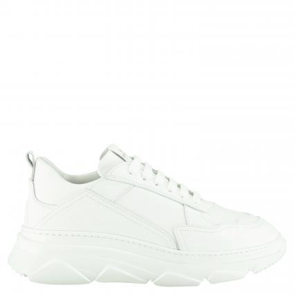Sneaker aus Leder weiss (VITELLO WHITE) | 42