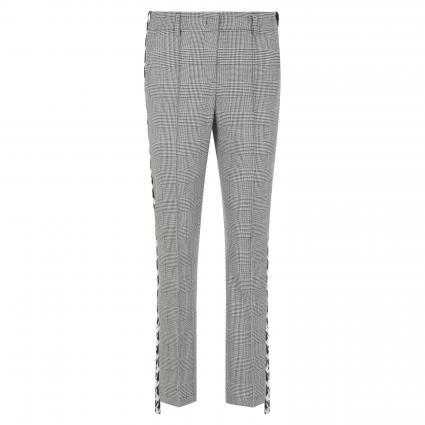 Hose mit All-Over Glencheck-Muster weiss (190 weiß/schwarz) | 40