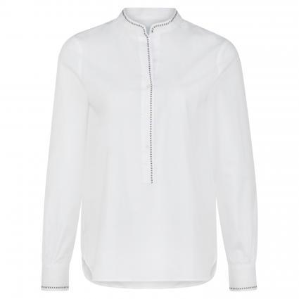 Bluse mit Zierstich weiss (01 weiß) | 38