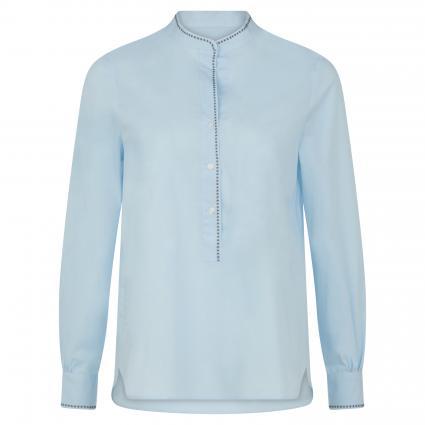 Bluse mit Zierstich blau (71 bleu) | 38