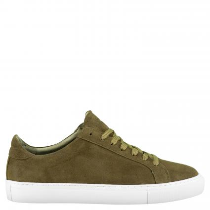Sneaker aus Leder taupe (140 waxed taupe) | 42